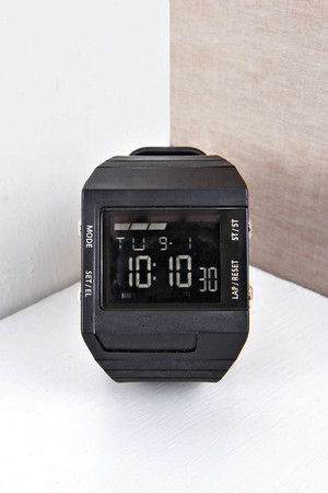 Face Digital Watch black