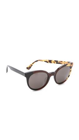Fendi Pattern Fade Sunglasses - Black Olive Havana/Brown