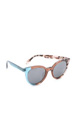 Fendi Pattern Fade Sunglasses - Green/Grey