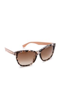 Fendi Special Fit Tortoise Bright Side Sunglasses - Havana Beige/Brown