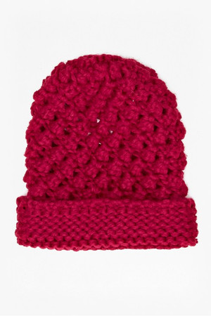 Fifi Knitted Hat - Berry Punch