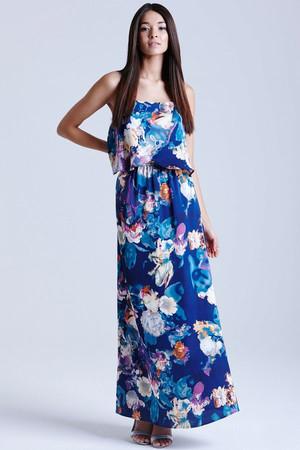 Floral Blur Maxi Dress