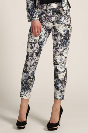 Floral Multi Colour Tapered Skinny Trousers