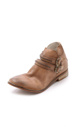 Free People Braeburn Ankle Boots - Tobacco