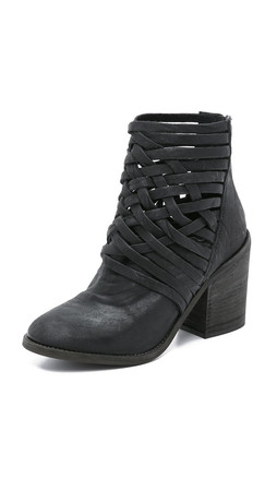Free People Carrera Heel Boots - Black