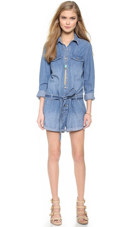 Free People Chambray Romper - Chambray