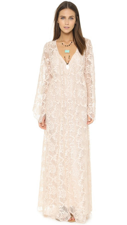 Free People Cool & Sensual Lace Maxi Dress - Ballet