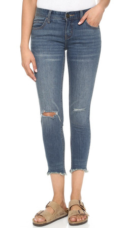 Free People Distressed Jeans - Tupelo Blue