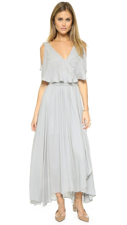 Free People Fiona'S Sleeveless Maxi Dress - Rain Blue