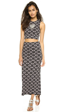 Free People Havana Skirt & Tank Set - Black Combo