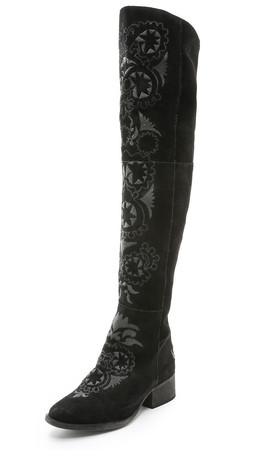 Free People High Noon Tall Boots - Black Combo