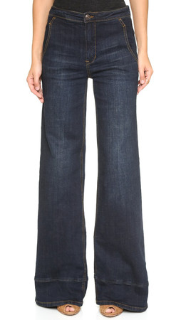 Free People High Waisted Bell Bottom Jeans - Bewick