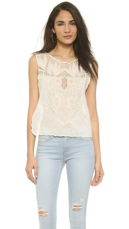 Free People Island In The Sun Crop Top - White