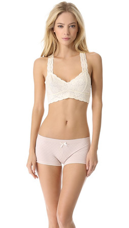 Free People Lace Racer Back Bra - Ivory