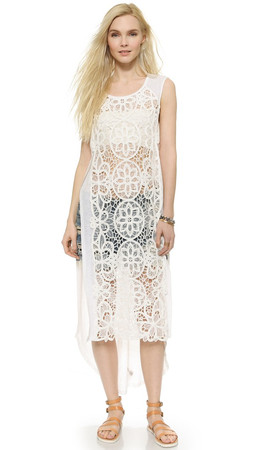 Free People Never Enough Maxi Dress - Ivory