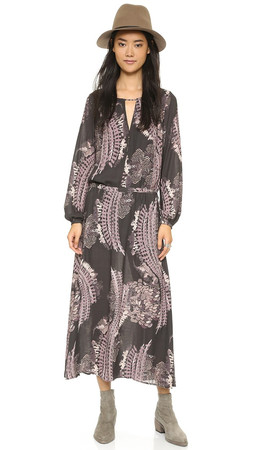 Free People Out Of The Woods Dress - Raven Combo
