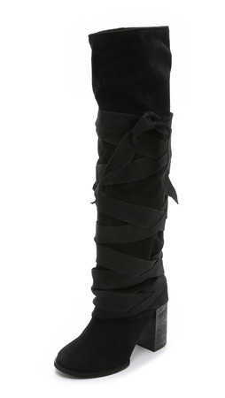 Free People Paradiso Wrap Boots - Black