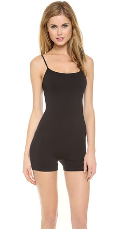 Free People Seamless Romper - Black