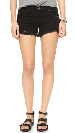 Free People Sharkbite Shorts - Stark Black