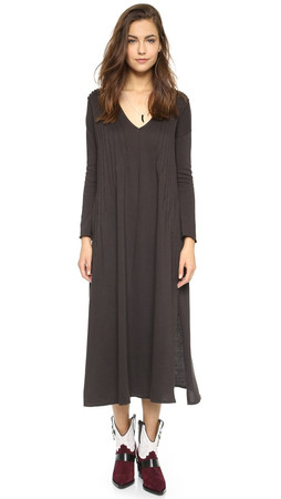 Free People Sophie'S Midi Tee Dress - Black