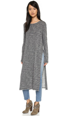 Free People To The Max Pullover - Charcoal