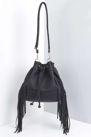 Fringe Side Duffle Bag black