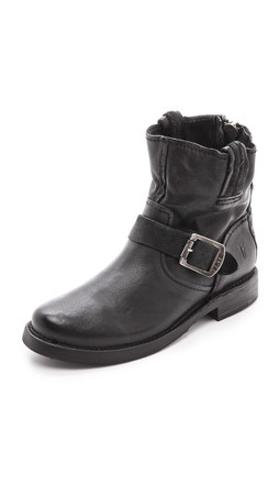 Frye Vicky Artisan Back Zip Booties - Black
