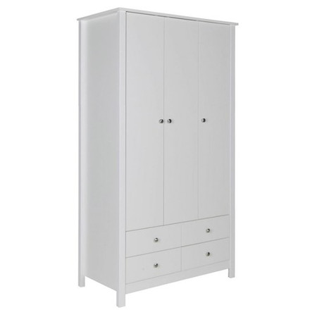 Furniture To Go Florence Triple Wardrobe in White