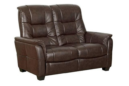 GFA Windsor Two Seater Leather Sofa in Chocolate