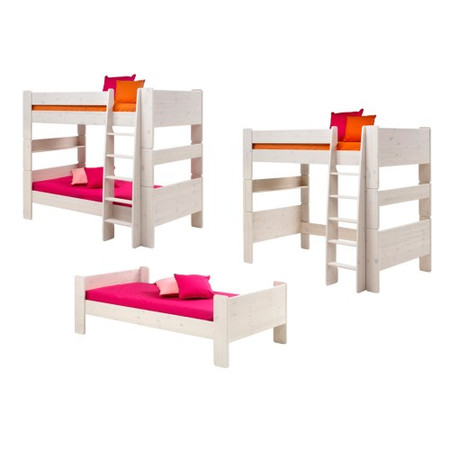 GRADE A1 - Steens  For Kids Extension Kit - Bunk To Single And High Sleeper In Whitewash