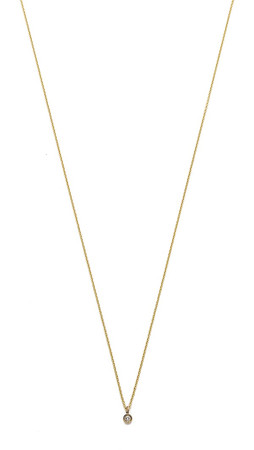 Gabriela Artigas Baby Bezel Necklace - Clear/Gold