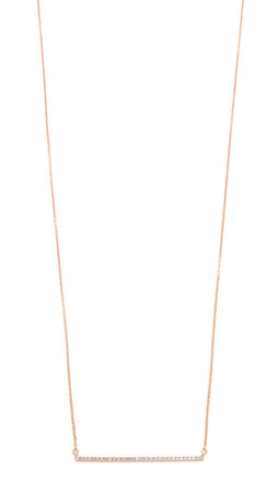 Gabriela Artigas Bar Diamond Necklace - Rose Gold