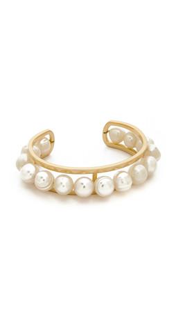 Gabriela Artigas Cage Cuff Bracelet - Pearl/Gold