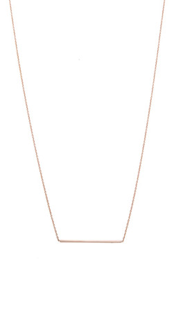 Gabriela Artigas Line Necklace - Rose Gold