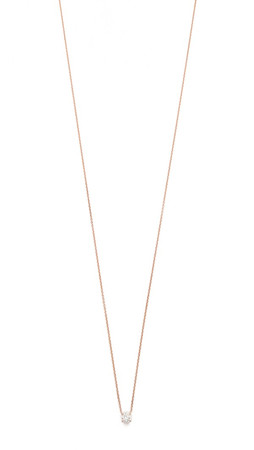 Gabriela Artigas Master Diamond Necklace - Clear/Rose Gold