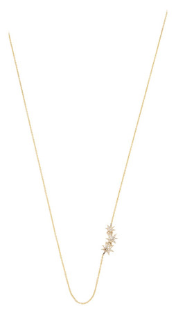 Gabriela Artigas Pave Triple Shooting Star Necklace - Clear/Gold