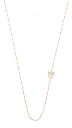 Gabriela Artigas Single Heart Necklace - Rose Gold