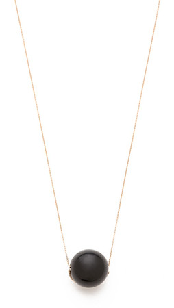 Ginette_Ny Black Moon Onyx Necklace - Rose Gold/Onyx
