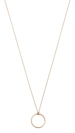 Ginette_Ny Mini Circle Necklace - Rose Gold