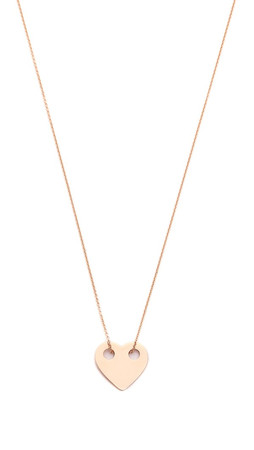 Ginette_Ny Mini Heart Necklace - Rose Gold