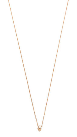 Ginette_Ny Mini Tube & Diamond Necklace - Rose Gold/Clear