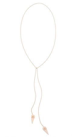 Ginette_Ny Mrs Joe Mini Lariat Necklace - Rose Gold