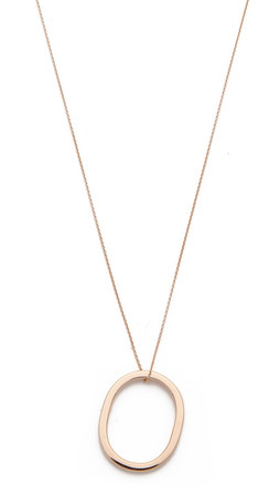 Ginette_Ny Ring On Chain Necklace - Gold