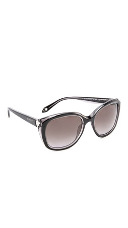 Givenchy Classic Frame Sunglasses - Shiny Black/Grey Smoke