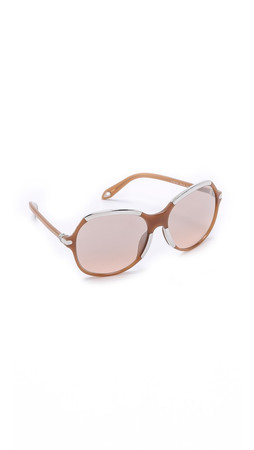 Givenchy Round Sunglasses - Shiny Light Brown/Pink