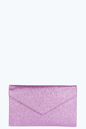 Glitter Envelope Clutch pink