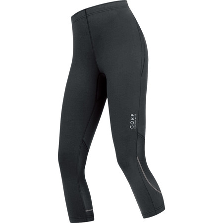 Gore Running Wear Women's Essential 3/4 Tights () - Small Black