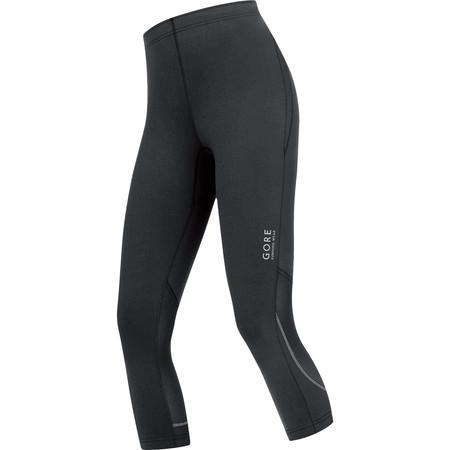 Gore Running Wear Women's Essential 3/4 Tights () - Small Black