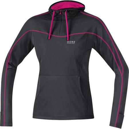 Gore Running Wear Essential Hoody Women's () - Small Black/Pink