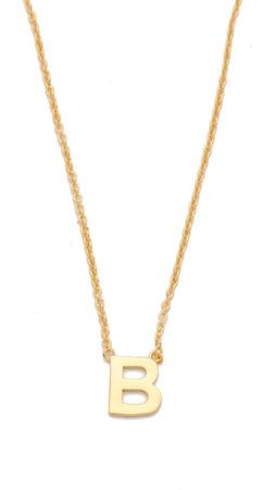 Gorjana Alphabet Necklace - B